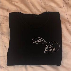 Brandy Melville Rare Skull T-Shirt